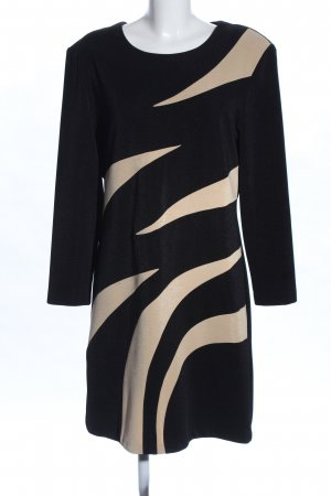 Joseph Ribkoff Langarmkleid schwarz-wollweiß grafisches Muster Business-Look