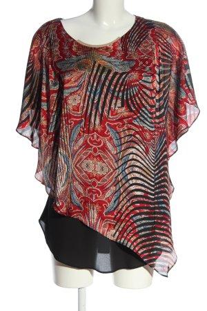 Joseph Ribkoff Long Blouse red-black abstract pattern elegant