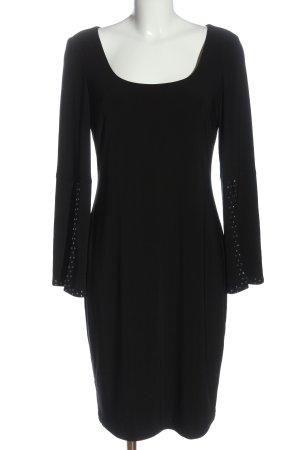 Joseph Ribkoff Midi Dress black striped pattern casual look