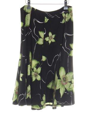 Joseph Ribkoff Minirock schwarz-grün Blumenmuster Casual-Look