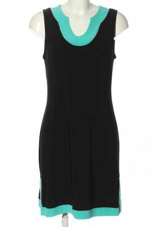 Joseph Ribkoff Robe t-shirt noir-turquoise style décontracté