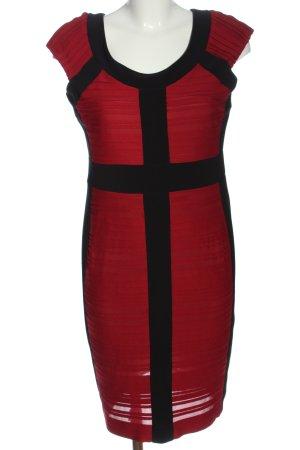 Joseph Ribkoff Abito di maglia rosso-nero stile casual