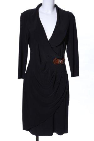Joseph Ribkoff Robe portefeuille noir style d'affaires