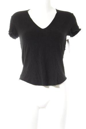 Joseph V-Ausschnitt-Shirt schwarz schlichter Stil