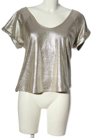 Josh V Połyskująca bluzka srebrny Ekstrawagancki styl