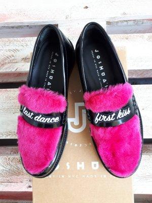 Joshua Sanders Schuhe Loafers aus echtes Leder in neon pink Made in Italy ungetragen
