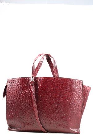 Jost Torba shopper czerwony-czarny Na całej powierzchni W stylu casual
