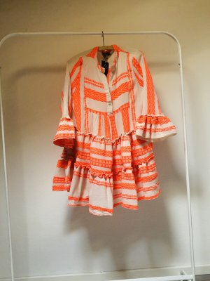 JOTT Hippie Dress oatmeal-neon orange