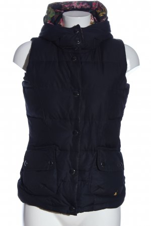 Joules Hooded Vest black quilting pattern casual look
