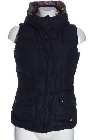 Joules Capuchon vest zwart quilten patroon casual uitstraling