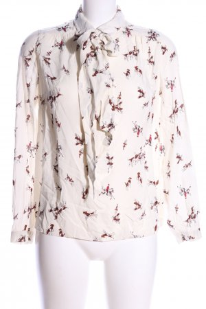 Joules Langarm-Bluse creme-rot Motivdruck Casual-Look