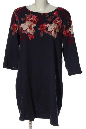 Joules Langarmkleid blau-pink Blumenmuster Casual-Look