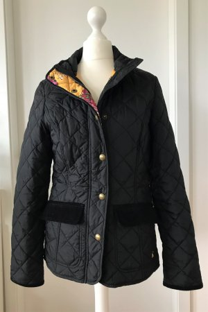 Joules Moredale Steppjacke XS 34 UK6 Mantel Übergang Jacke Quilted Coat Schwarz