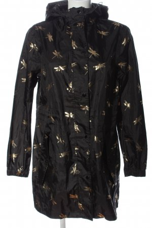 Joules Rain Poncho black-gold-colored allover print casual look
