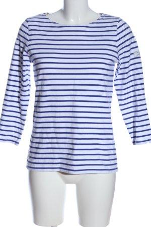 Joules Longsleeve weiß-blau Streifenmuster Casual-Look