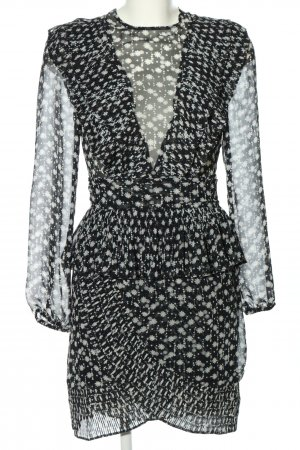 Jovonna London Flounce Dress black-white allover print elegant