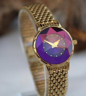 Jowissa Orologio con cinturino di metallo lilla-oro