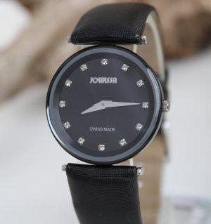 JOWISSA High Quality Swiss Watches Damen Anodized Aluminium Strass Neuwertig