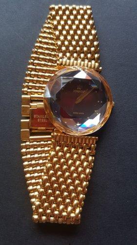 Jowissa Montre avec bracelet métallique doré métal