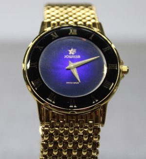 Jowissa Watch With Metal Strap blue-gold-colored