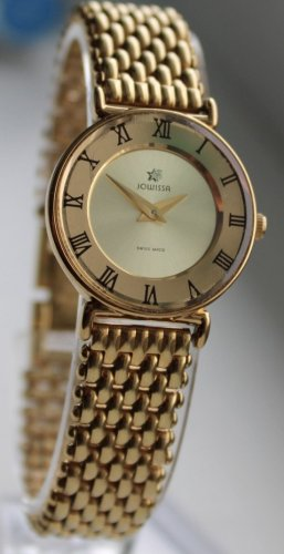 "JOWISSA ""ROMA"" - HIGH QUALITY SWISS WATCHES - EXTRAVAGANTE, GOLDENE DAMENUHR"