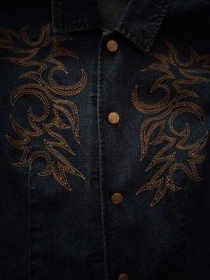 Joy Blazer in jeans grigio ardesia-blu scuro