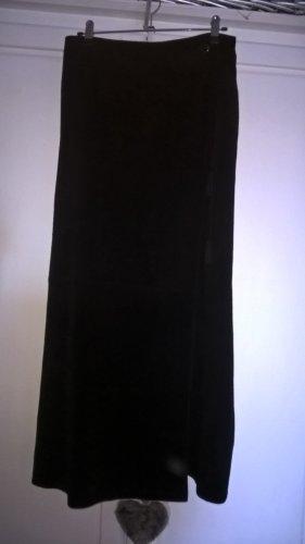 JOY Echt Leder Maxi Rock schwarz Gr. 38