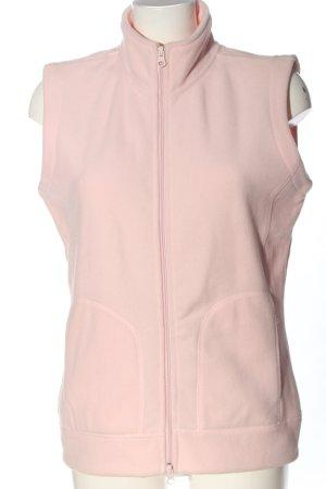 Joy Fleece vest roze casual uitstraling