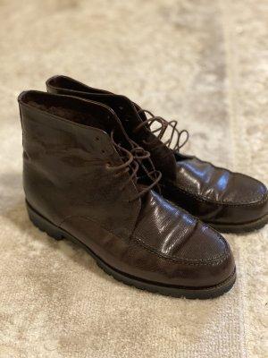 Joy Harper Stiefelette Leder Braun Schuhe 37