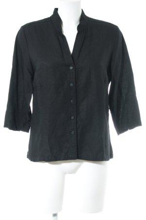 Joy Hemd-Bluse schwarz Business-Look