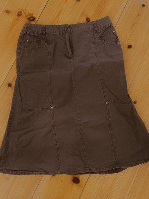 Joy Jeansrock Rock 100% Baumwolle Jeans Braun 42