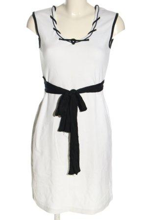 Joy Jerseykleid weiß-schwarz Casual-Look