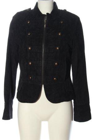 Joy Short Jacket black casual look