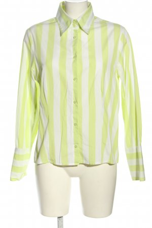Joy Long Sleeve Blouse natural white-green striped pattern casual look
