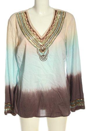Joy Camicetta a maniche lunghe Colore sfumato stile casual