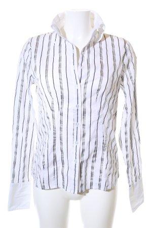 Joy Langarmhemd weiß-schwarz Streifenmuster Business-Look