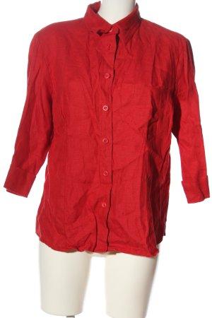 Joy Blusa de lino rojo look casual