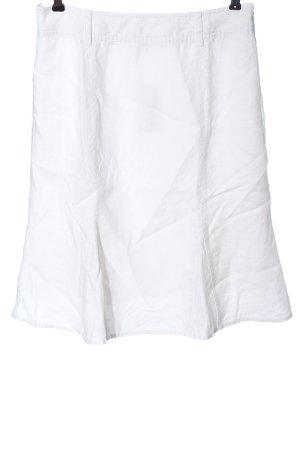 Joy Jupe en lin blanc style décontracté