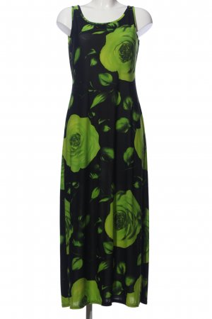 Joy Maxikleid schwarz-grün Blumenmuster Casual-Look