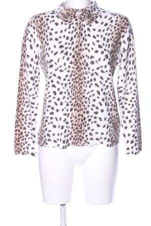 Joy Polo-Shirt weiß-braun Allover-Druck Casual-Look