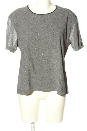 Joy T-Shirt light grey weave pattern casual look