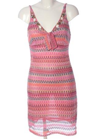 Joyce & Girls Trägerkleid pink Allover-Druck Party-Look