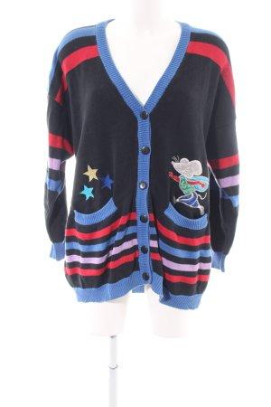 Joye & Fun Gebreide jas prints met een thema casual uitstraling