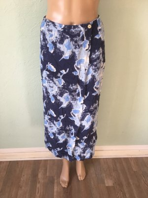 Falda cruzada azul aciano-azul oscuro Viscosa