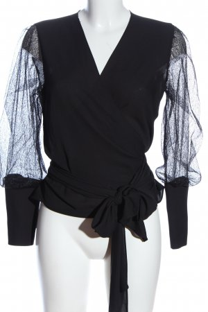 joymiss Wraparound Blouse black casual look