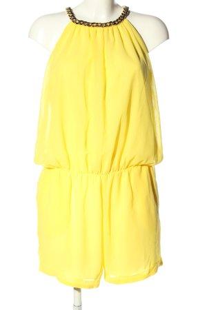 JS Millenium Jumpsuit blassgelb-goldfarben Elegant