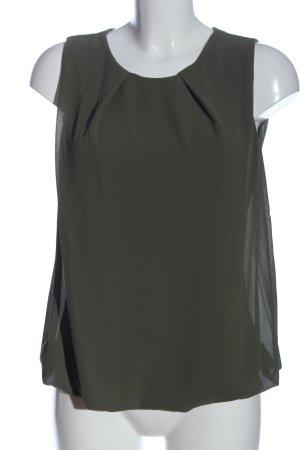 JT exclusive ärmellose Bluse khaki Business-Look