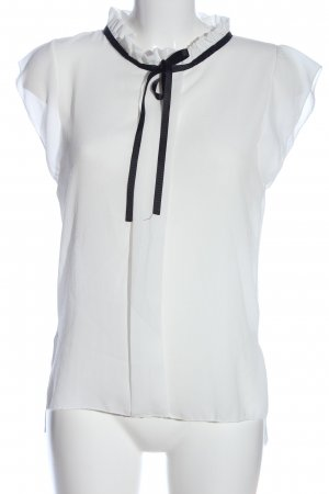 JT exclusive Kurzarm-Bluse weiß Casual-Look
