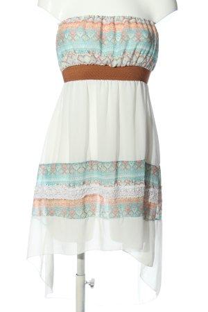 JT exclusive schulterfreies Kleid grafisches Muster Casual-Look