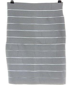Stretchrock weiß-schwarz Allover-Druck Casual-Look